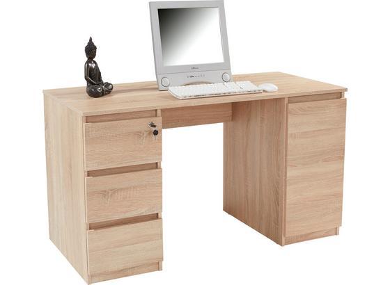 Schreibtisch Stefan - Sonoma Eiche, MODERN, Holzwerkstoff (138/74,4/55cm)