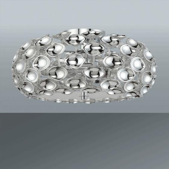 Stropná Lampa Cathy - chrómová, Štýlový, umelá hmota/kov (47/21cm) - Premium Living