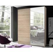Schwebetürenschrank mit Spiegel 170cm Starter, Eiche Dekor - Eichefarben, Design, Glas/Holzwerkstoff (170/195/59cm) - Carryhome