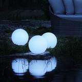 Záhradní Osvětlení Led-solar Ben  Ø 30 Cm - bílá, Moderní, umělá hmota (30/30cm) - Modern Living